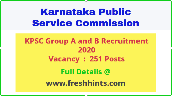 KPSC Group A And B Vacancy