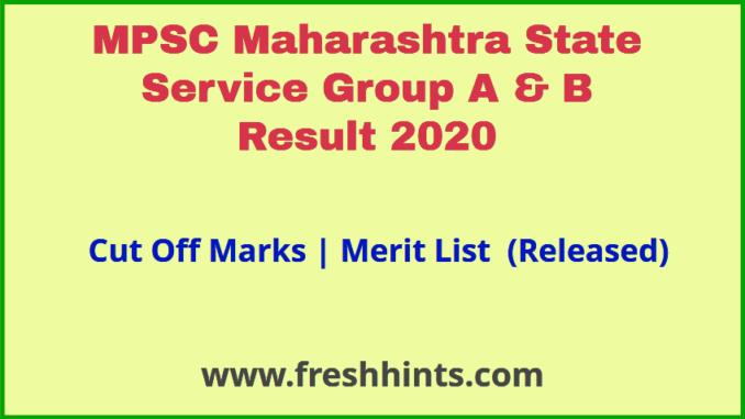 Maharashtra State Service Result 2020