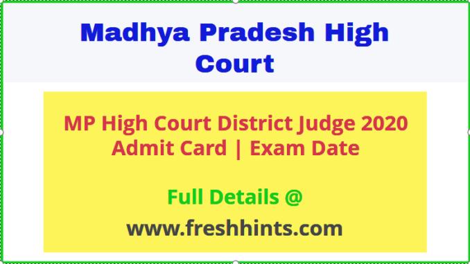 MP High Court HJS Admit Card