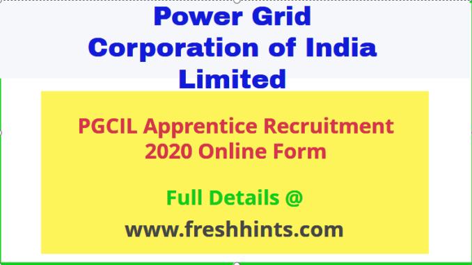 PGCIL Apprentice Vacancy