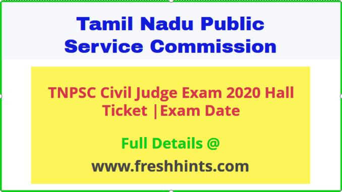 TNPSC Civil Judge Exam Hall Ticket 2020