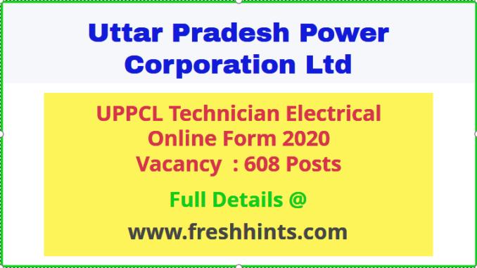 UPPCL Technician Electrical Vacancy