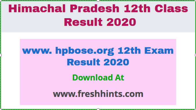 www. hpbose.org 12th Exam Result