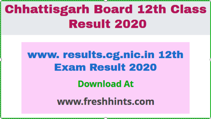 www. results.cg.nic.in 12th Exam Result 2020