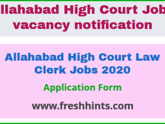 Allahabad High Court Law Clerk Jobs 2020