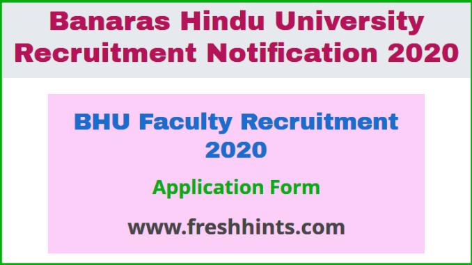 BHU Faculty Recruitment 2020