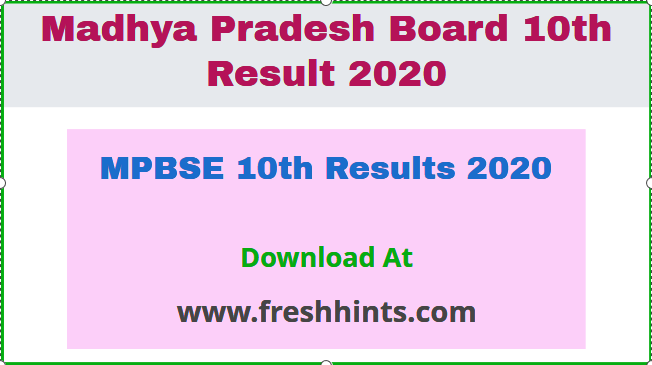 MPBSE 10th Results 2020
