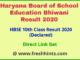 Bhiwani Board Tenth Class Result 2020