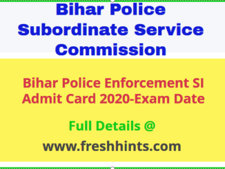 BPSSC Enforcement SI Admit Card