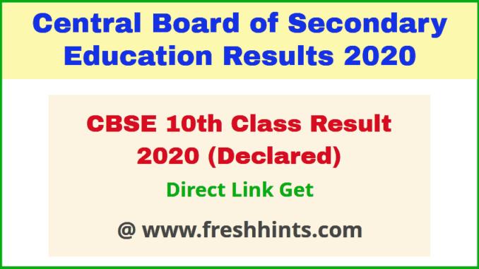 CBSE Board Matric Exam Results 2020