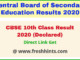 CBSE Board Matric Exam Results 2020