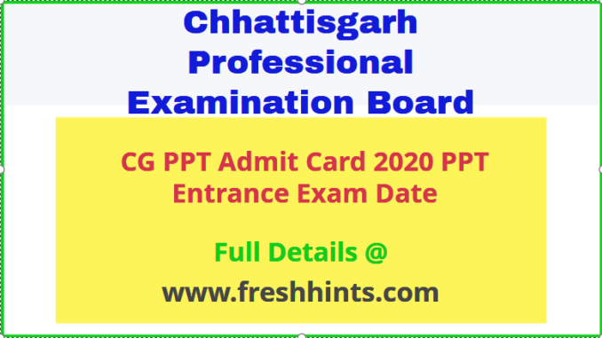 CG Vyapam PPT Admit Card