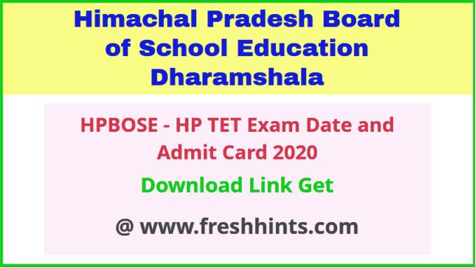 Himachal Pradesh TET Admit Card 2020