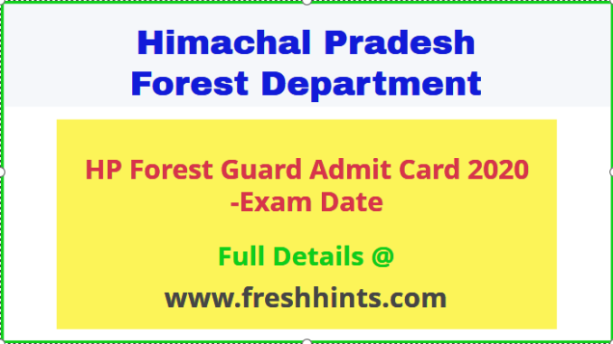 HP Forest Guard Hall Ticket
