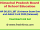 HPBOSE DELED Entrance Exam Admit Card 2020
