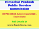 HPPSC HAS Admit Card