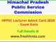 HPPSC Lecturer Admit Card