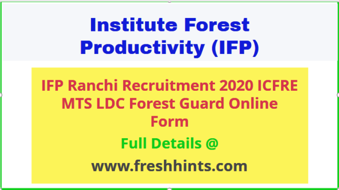 ICFRE MTS Recruitment