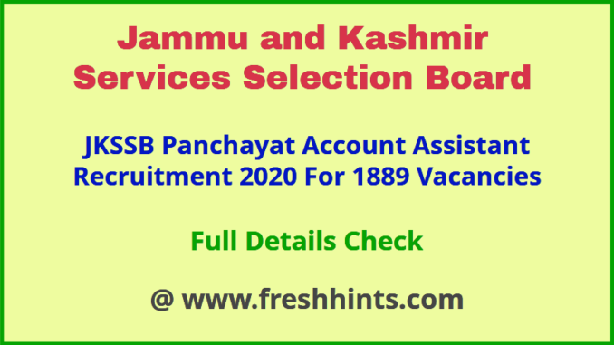 JK Accounts Assistant Jobs 2020