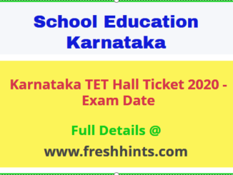 KAR TET Hall Ticket