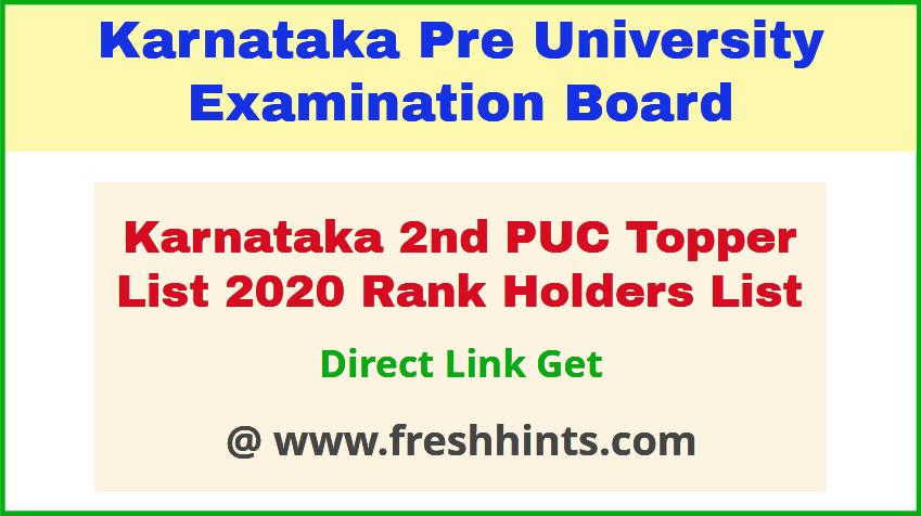 Karnataka SSLC Toppers Rank List 2020 district wise result | FreshHints.Com