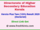 Kerala Board HSE 12th Results 2020