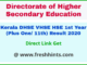 Kerala Board VHSE First Year Results 2020