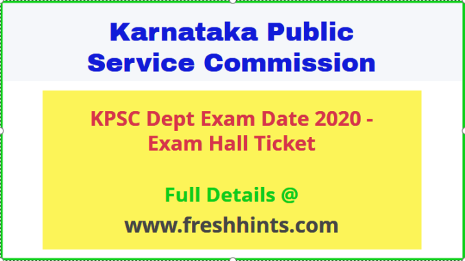 KPSC Dept Exam Admit Card