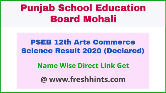 Mohali Board Sr Sec Puls Two Result 2020