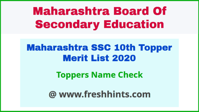 MSBSHSE 10th Class Topper List 2020