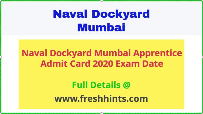 Naval Dockyard Admit Card