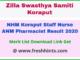 NHM Koraput Paramedical Staff Result 2020