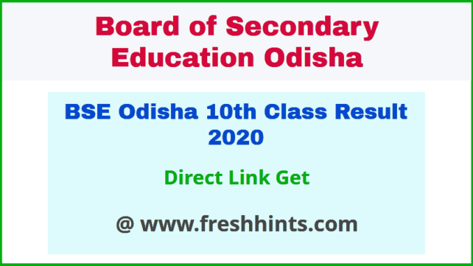 Odisha Board Matric Result 2020