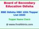 Odisha Board Batric Topper Merit List 2020