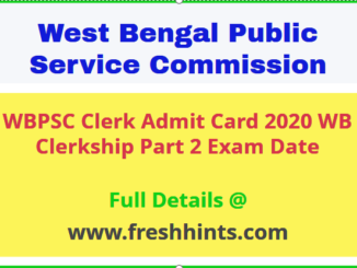 PSCWB Clerkship Admit Card
