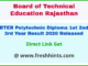 Rajasthan Engineering Diploma Result 2020