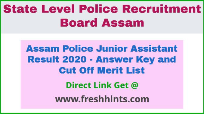 SLPRB Junior Assistant Result 2020