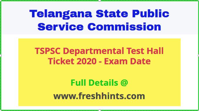 Telangana Departmental Test Hall Ticket