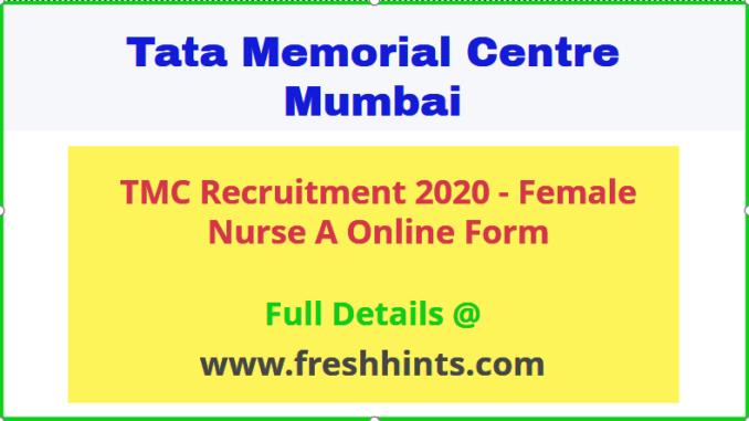 TMC Female Nurse A Recruitment