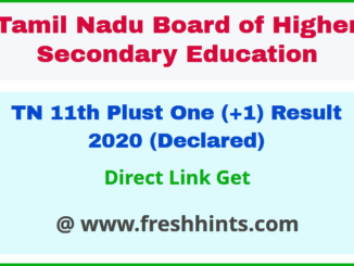 TN HSC First Year Results 2020