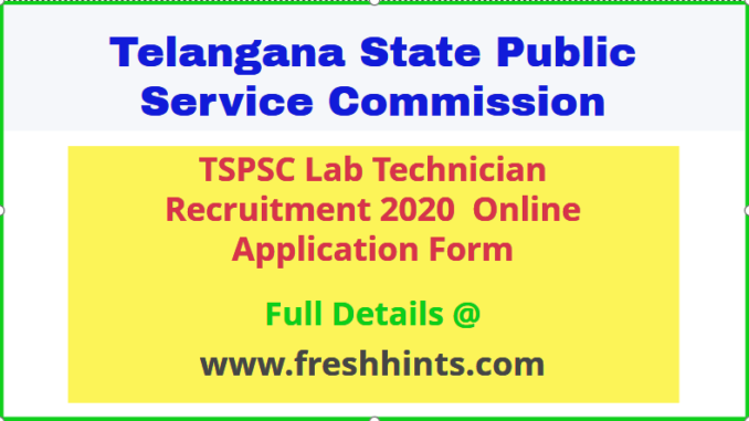 TSPSC Lab Technician Jobs