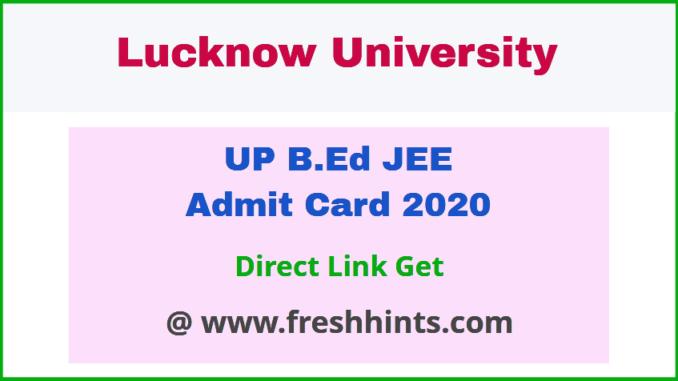 Uttar Pradesh BEd Entrance Exam Hall Ticket 200