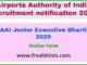 AAI Junior Executive Bharti 2020