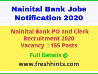 Nainital Bank PO and Clerk Recruitment 2020
