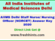 AIIMS Nursing Officer Answer Sheet 2020
