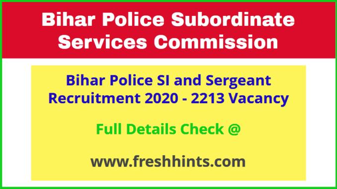 Bihar Police Daroga Bharti 2020