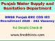 Department of Water Supply and Sanitation Punjab BRC recruitment 2020