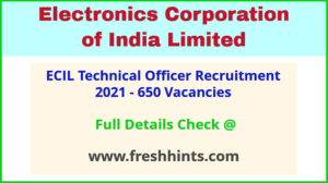 ECIL Technical Officer Vacancy 2021