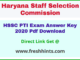 Haryana PTI Answer Sheet 2020
