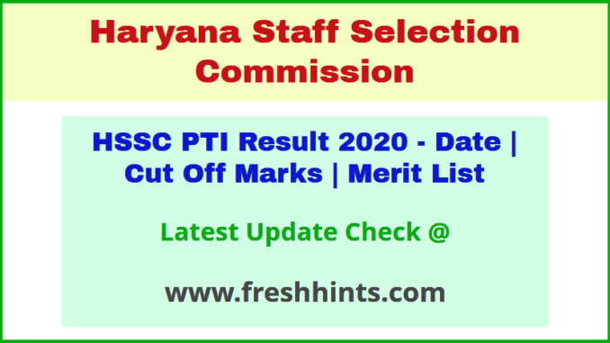 Haryana PTI Selection List 2020